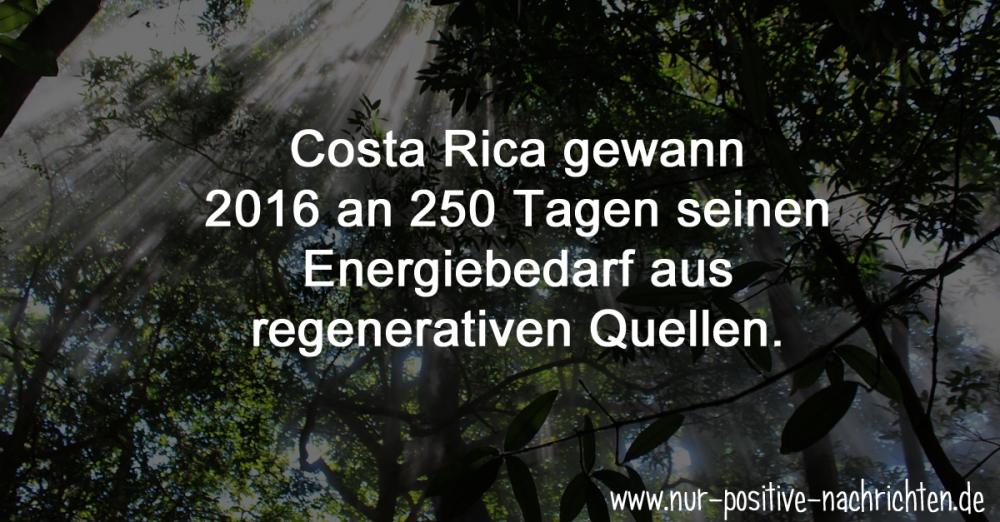 Costa Rica gewinnt 98 Prozent seines Energiebedarfs aus ...