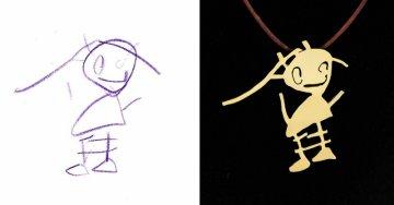Kinderzeichnungen in Schmuck | Quelle: http://tasarimtakarim.com/