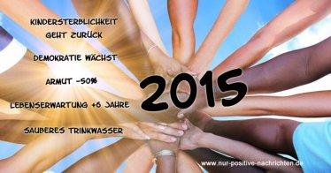 Gute Nachrichten 2015 - Nur positive Nachrichten