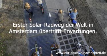 Erster Solarradweg der Welt übertrifft Erwartungen