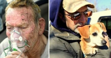 Mann rettet Hunde aus Feuer   Quelle: http://www.lifewithdogs.tv/2015/02/community-takes-care-of-elderly-mans-orphans-after-fire/
