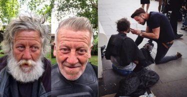 Kostenloser Haarschnitt für Obdachlose | Quelle:http://news.viatekno.com/2016/08/cowok-ini-keliling-kota-untuk-cukur.html