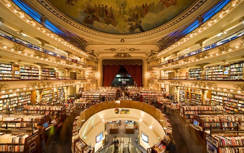 Buenso Aires Buchhandlung im Theater El Ateneo Grand Splendid | Quelle: http://www.travelandleisure.com/travel-guide/buenos-aires/shopping/el-ateneo-grand-splendid