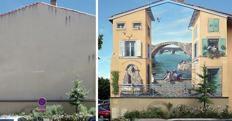 Fassadenbemalung von Commecy | Quelle: http://www.a-fresco.com/