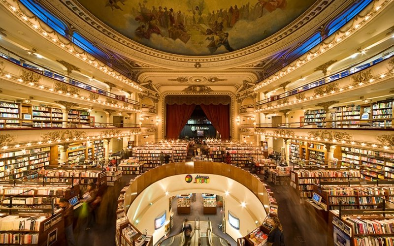 Buenso Aires Buchhandlung im Theater El Ateneo Grand Splendid | Quelle: http://www.travelandleisure.com/travel-guide/buenos-aires/shopping/el-ateneo-grand-splendid