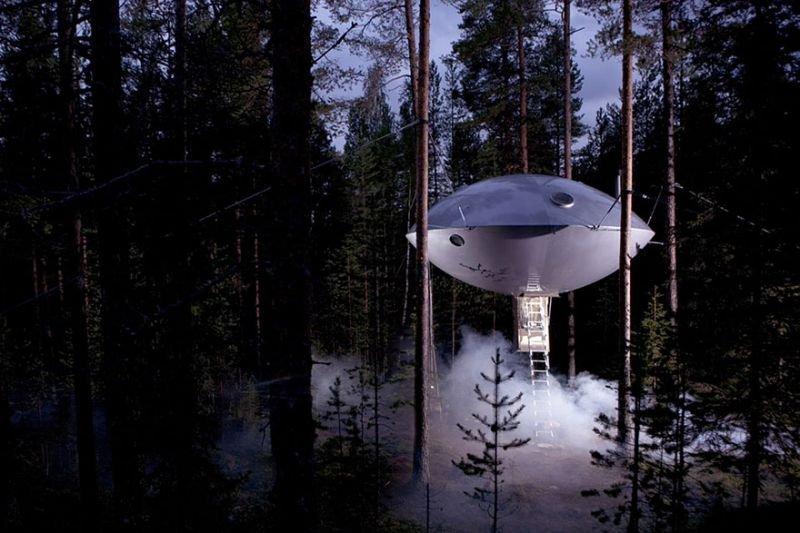 Ufo Baumhaus in Schweden | Quelle: http://www.treehotel.se/en/?pg=ufo