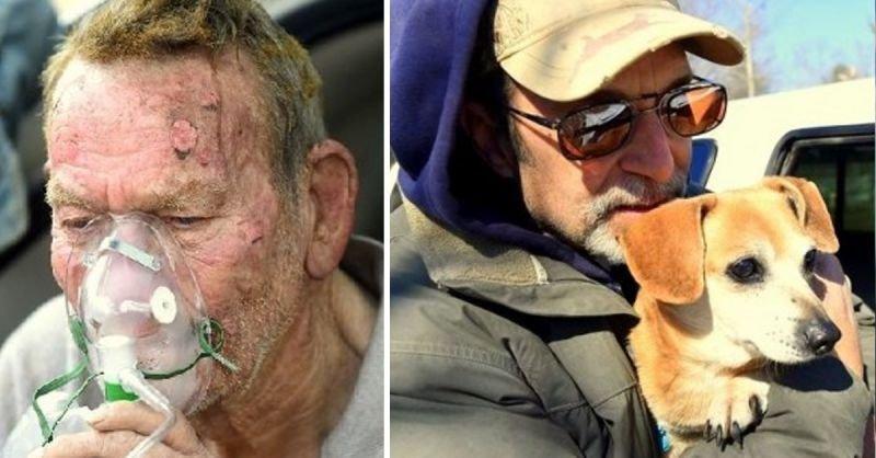 Mann rettet Hunde aus Feuer | Quelle: http://www.lifewithdogs.tv/2015/02/community-takes-care-of-elderly-mans-orphans-after-fire/
