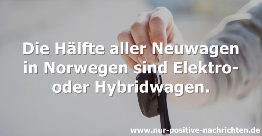 Norwegen: Hälfte aller Neuwagen sindElektro- oder Hybridwagen (Video)