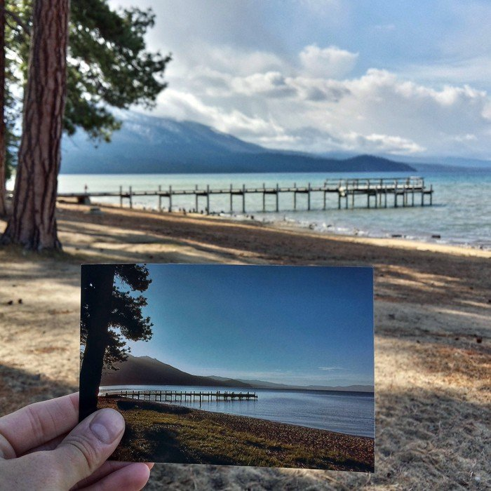 Valhalla Pier in South Lake Tahoe | Juni 1981 & Mai 2015 Quelle: pastpresentproject.com/