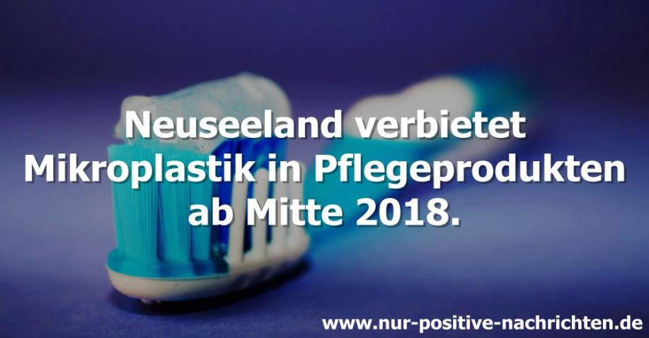 Neuseeland verbietet Mikroplastik ab 2018