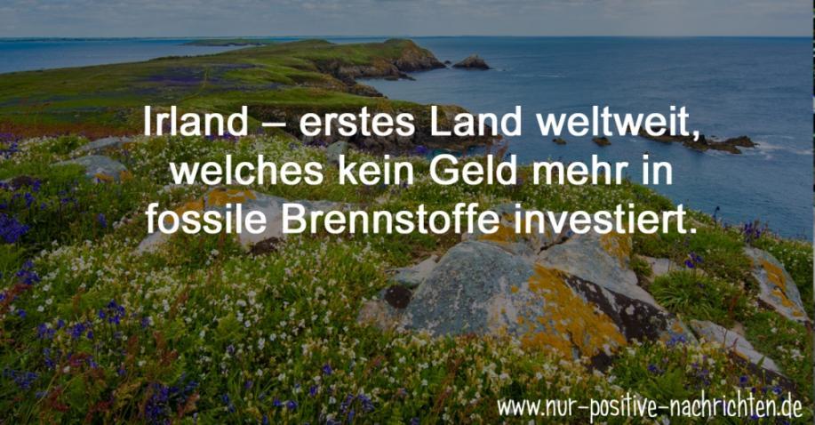 Irland – erstes Land weltweit, welches kein Geld mehr in fossile Brennstoffe investiert