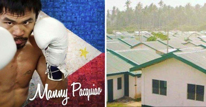 Manny Pacquiao (Boxer) kauft 1000 Häuser für arme Menschen auf den Philippinen