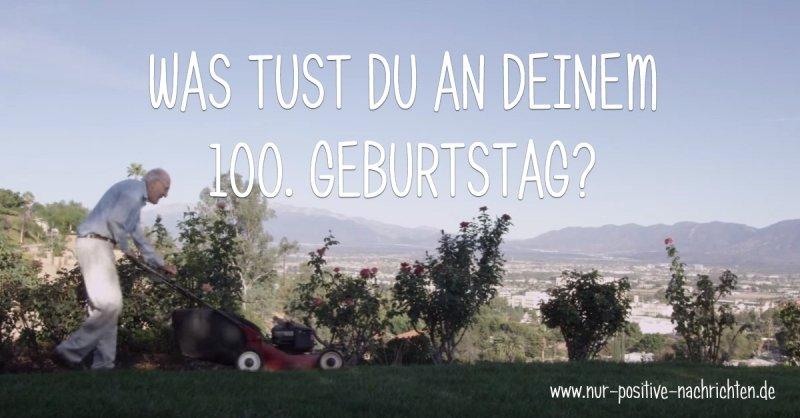 Was tust Du an Deinem 100. Geburtstag? Der Veganer Ellsworth mäht den Rasen.