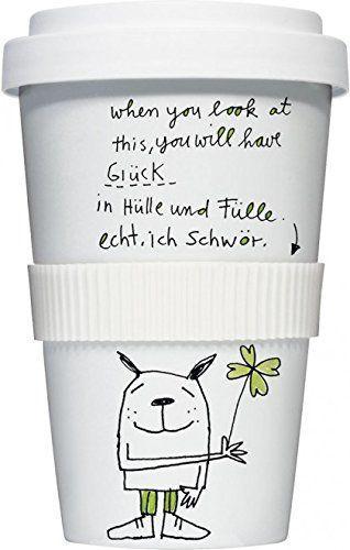 Coffee to go Kaffee Becher Glück in Hülle und Fülle