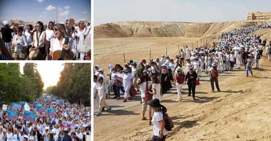 Marsch der Hoffnung - tausende Frauen aller Religionen marschieren in Israel für Frieden