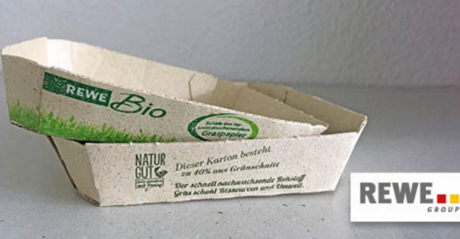 Rewe und Penny testen Verpackungen aus Graspapier